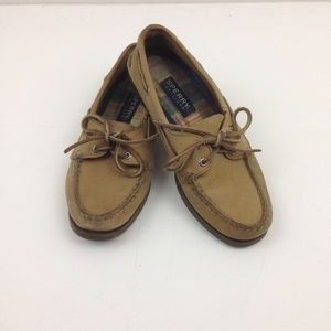 Sperry Loafer Shoes Top Sider Boat 7M Tan Leather